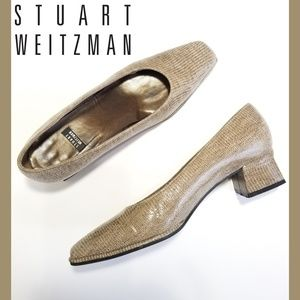 STUART WEITZMAN Brown Block Heels
